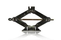 Черный ручной jack для lifter автомобиля Стоковые Изображения RF