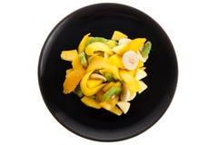 черный салат плиты плодоовощ Стоковые Фотографии RF