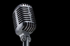 черный сбор винограда микрофона Стоковая Фотография
