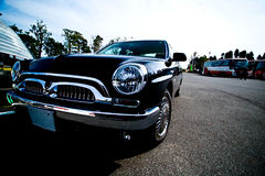 черный сбор винограда автомобиля стоковая фотография