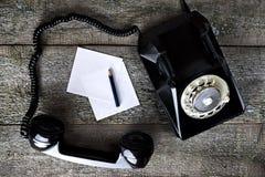 черный сбор винограда телефона Стоковые Изображения