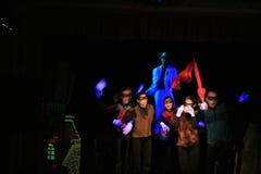 черный светлый театр выставки стоковое изображение