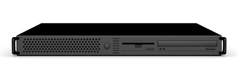 черный сервер 19inch Стоковое фото RF