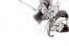 черный серебр подарка Стоковые Фотографии RF