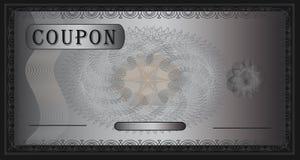 черный серебр талона Стоковая Фотография RF