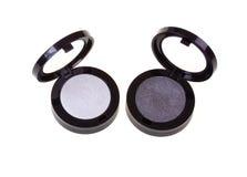 черный серебр eyeshadow Стоковые Изображения RF