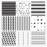 Черный, серый, белый простой безшовный комплект картины, Стоковая Фотография RF