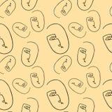 Черный силуэт на бежевой предпосылке Ультрамодные minimalistic стороны иллюстрация штока