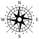 Черный символ компаса Стоковое Изображение RF