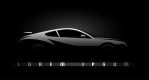Черный силуэт автомобиля Стоковые Фотографии RF