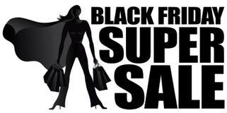 Черный силуэт продажи пятницы супер иллюстрация штока