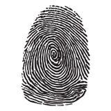 Черный силуэт развертки fingegerprint Стоковая Фотография