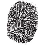 Черный силуэт развертки fingegerprint Стоковые Изображения RF