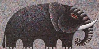 черный слон Стоковые Изображения