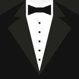 Черный смокинг с бабочкой и белой рубашкой также вектор иллюстрации притяжки corel Стоковая Фотография