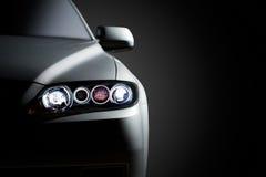Черный современный крупный план автомобиля стоковые фото