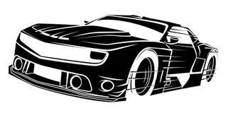 черный спорт автомобиля Стоковое фото RF