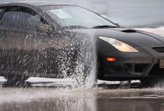 черный спорт льда автомобиля Стоковое Изображение RF