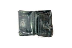 Черный старый бумажник Стоковое Изображение RF