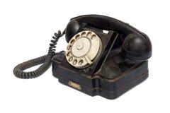 черный старый телефон Стоковые Изображения