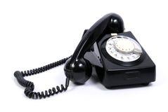 черный старый телефон Стоковая Фотография