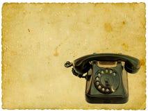 черный старый телефон Стоковая Фотография RF