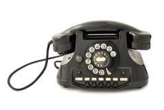 черный старый телефон Стоковое фото RF