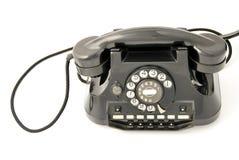 черный старый телефон Стоковые Фотографии RF