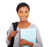 Черный студент колледжа стоковое изображение