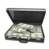 Черный случай с деньгами иллюстрация штока