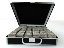 Черный случай с долларом иллюстрация штока
