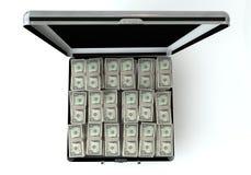 Черный случай с долларом бесплатная иллюстрация