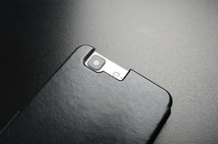 Черный случай для мобильного телефона Стоковое Изображение RF