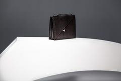 Черный случай для документов Стоковое фото RF