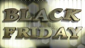 Черный текст золота 3D пятницы стоковые изображения