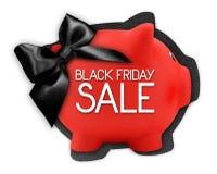 Черный текст продажи пятницы пишет на ярлыке карточки подарка в форме Стоковое Изображение RF