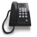 черный телефон офиса Стоковые Изображения RF