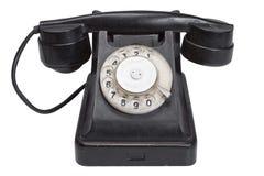 черный телефон ретро Стоковые Фотографии RF