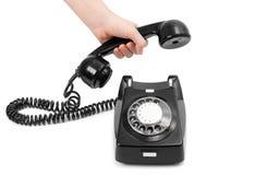 черный телефон Стоковое Фото