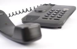 черный телефон Стоковое фото RF
