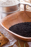 Черный тимон (Nigella sativa) стоковые изображения