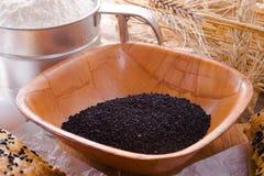 Черный тимон (Nigella sativa) стоковые фотографии rf