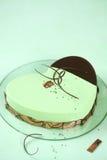 Черный торт Matcha Entremet сезама Стоковая Фотография RF