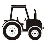 Черный трактор Стоковые Фото