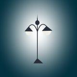 Черный фонарик сада в темноте Стоковое Изображение