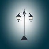 Черный фонарик сада в темноте Стоковое фото RF