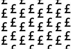 Черный фунт на белой предпосылке бесплатная иллюстрация