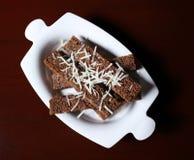 Черный хлеб чеснока для пива Стоковые Фото