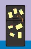 черный холодильник Стоковое Фото