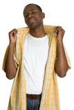 черный холодный человек Стоковые Изображения RF